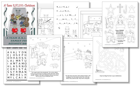 Free printable christmas activity books